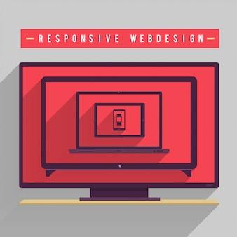 Web responsiva para dispositivo muti em arquivo em várias telas