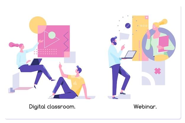 Web seminário educacional aulas pela internet atendimento profissional para professores pessoais