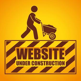 Web sob projeto de construção