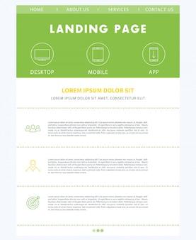 Web verde da página de destino