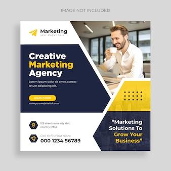 Webinar ao vivo de marketing digital de mídia social corporativa e modelo de postagem no instagram vector grátis
