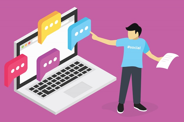 Webinar conceito, treinamento on-line de seo marketing, educação em computador, e aprendendo no local de trabalho