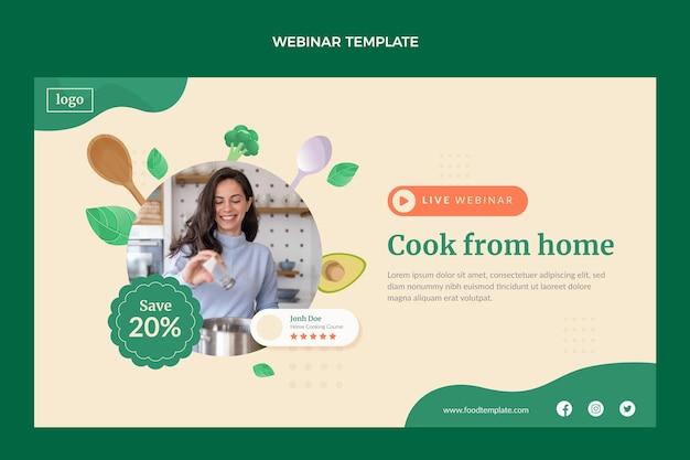Webinar de aula de culinária de design plano