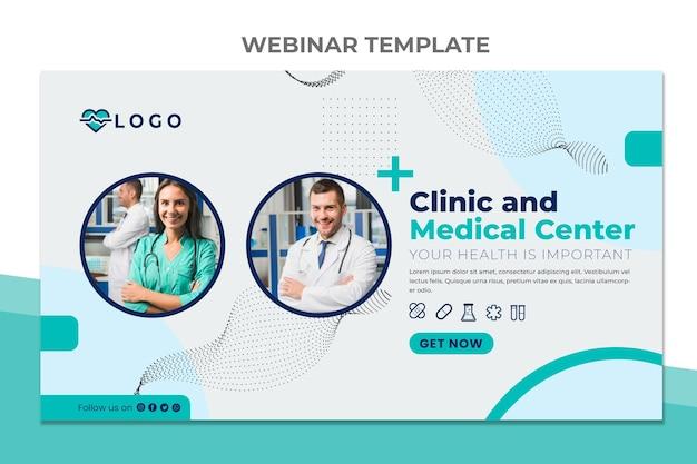 Webinar de centro médico de design plano