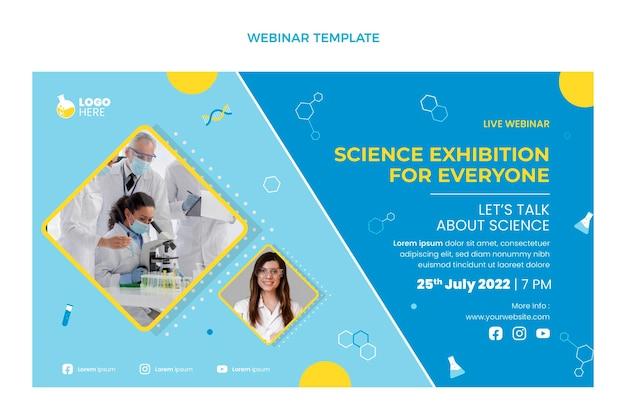 Webinar de ciência de design plano
