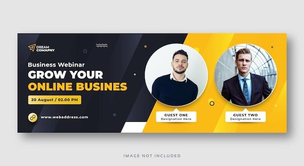 Webinar de negócios para conferências de mídia social banner da web
