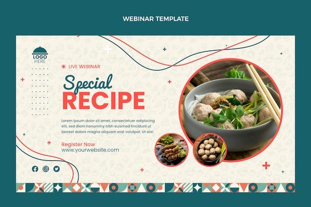 Webinar de receitas especiais de design plano