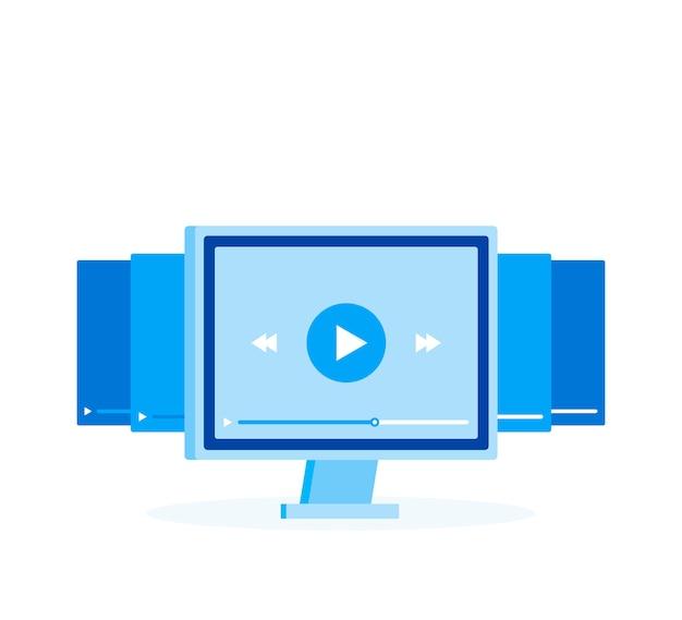 Webinar on-line e design de sinal de videoconferência.