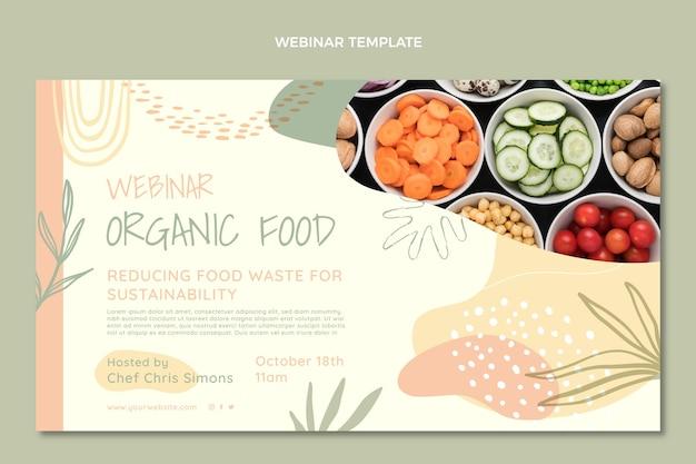 Webinar sobre alimentos orgânicos de design plano