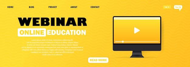Webinar usado para educação a distância
