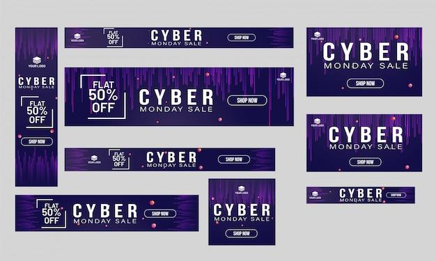 Website banner ou cartaz coleção plana 50% de desconto para oferta