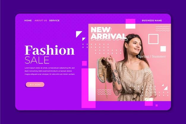 Webtemplate de venda de moda
