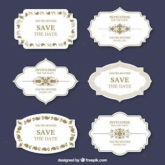 Wedding etiquetas do projeto