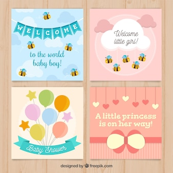 Welcome baby card collection
