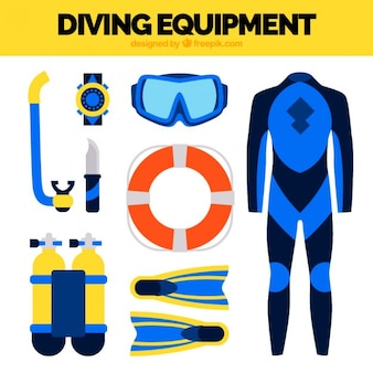 Wetsuit mergulho e elementos planos