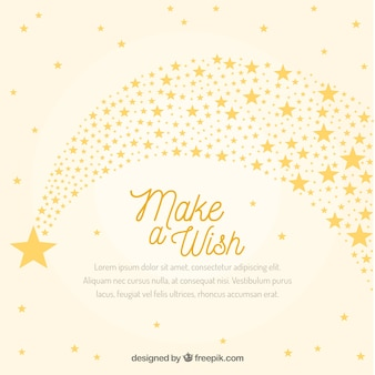 White and yellow star trail background