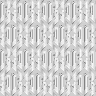 White paper art arrow triangle check cross geometry line, fundo de padrão de decoração elegante para cartão de banner web