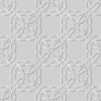 White paper art curve round corner square cross frame line, fundo de padrão de decoração elegante para cartão de banner web