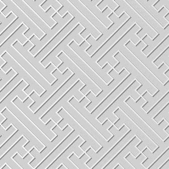 White paper art polygon spiral cross tracery line, fundo de padrão de decoração elegante para cartão de banner da web