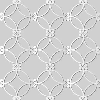 White paper art spiral round curve cross frame, fundo de padrão de decoração elegante para cartão de banner da web