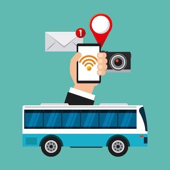 Wi-fi gratuito a bordo do design