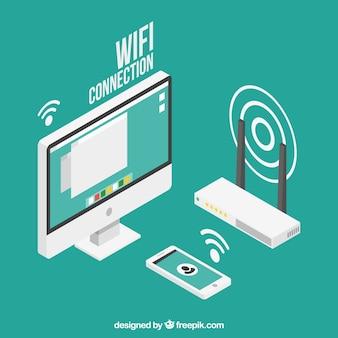 Wifi design de fundo