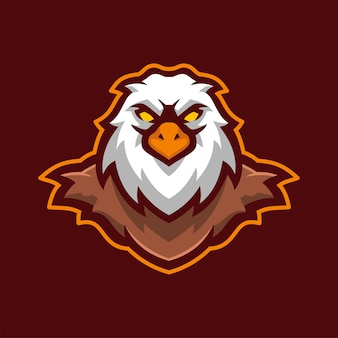 Wild eagle bird animal mascot logo personagem e-sports