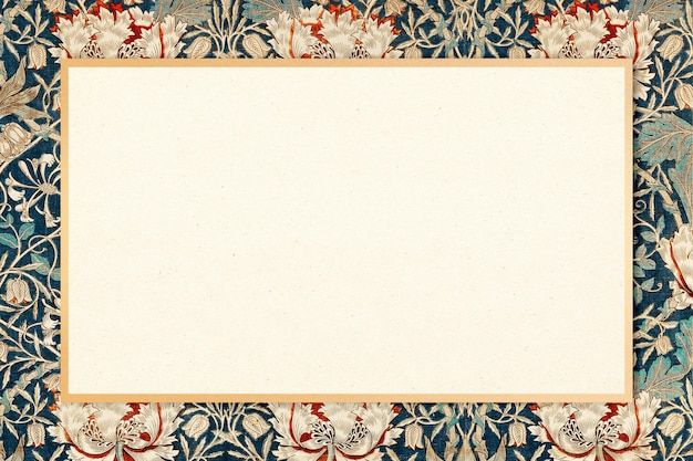 William morris padrão quadro vetor vintage floral