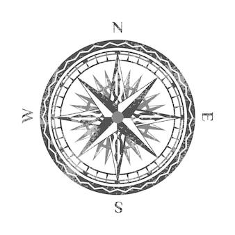 Windrose isolado no ícone de fundo branco
