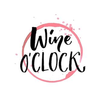 Wine oclock citação engraçada para pôsteres e mídia social arte de parede de bar e restaurante