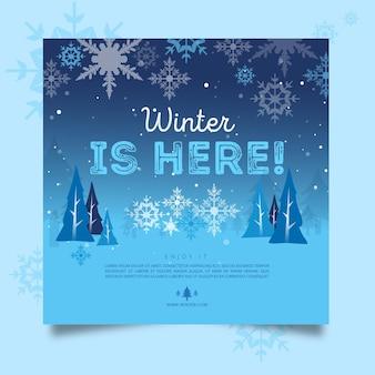 Winter flyer square