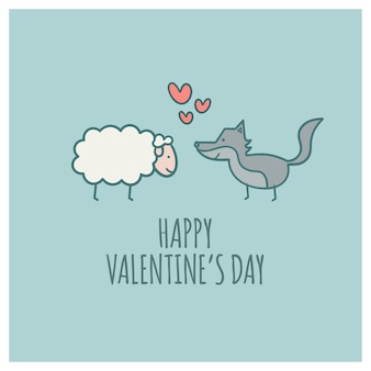 Wolf and sheep in love dia dos namorados