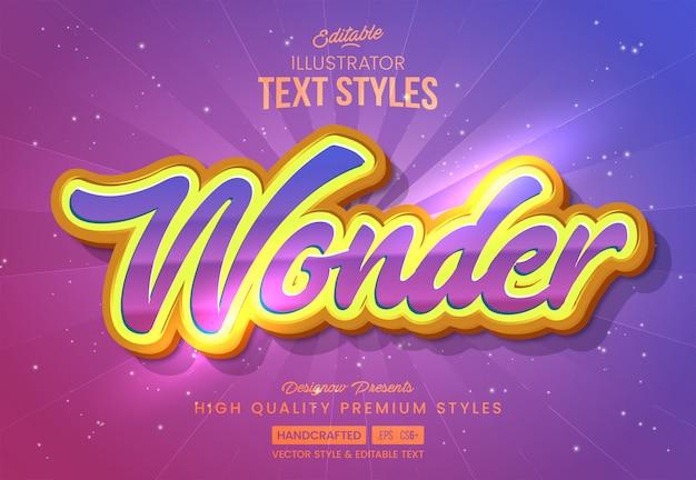 Wonder text style
