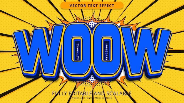 Woow arquivo eps editável de efeito de texto