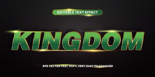 Word kingdom - conceito de estilo de efeito de texto editável