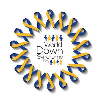 World down syndrome dia cartão consciência apoio à saúde