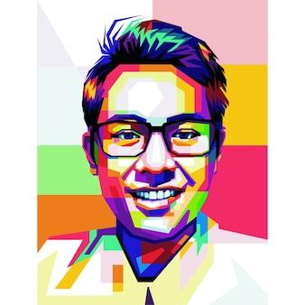 Wpap popart portrait