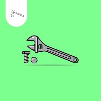 Wrench vector design uso perfeito para o ícone de design de padrão da web ui ux etc.