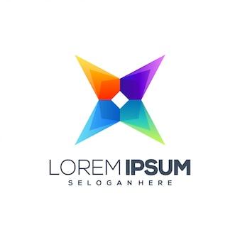 X modelo de design de logotipo