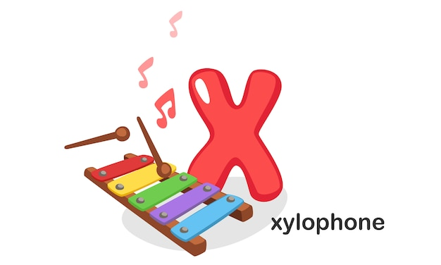 X para xilofone