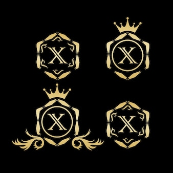 X vetor de logotipo de luxo