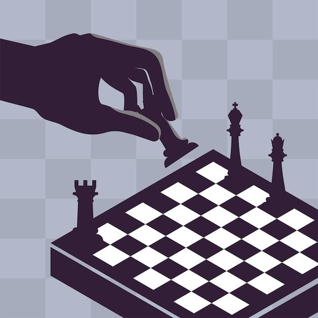 Xadrez de jogo de mão