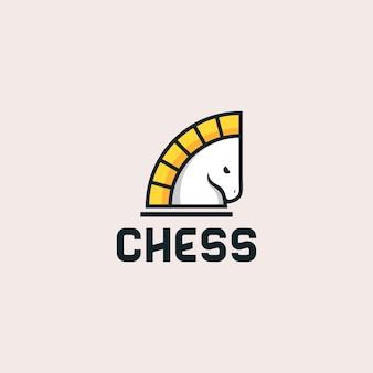 Xadrez logotipo design ilustração