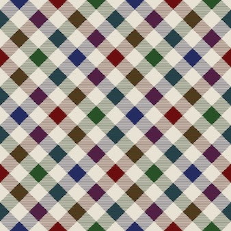 Xadrez material verde vermelho azul sem costura padrão