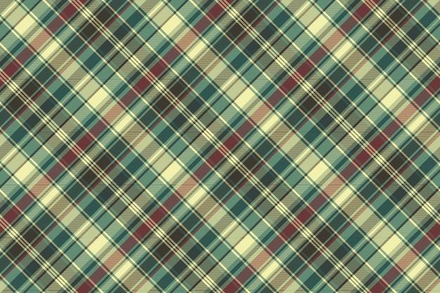 Xadrez vermelho verde verificar padrão sem emenda de textura de tecido