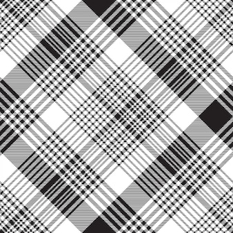Xadrez xadrez preto branco sem costura padrão