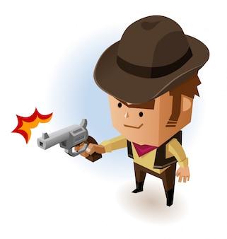 Xerife com revólver