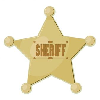 Xerife da estrela dos desenhos animados