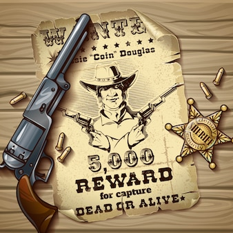 Xerife estrelas design vintage