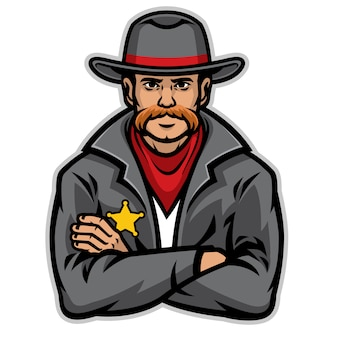 Xerife velho posando